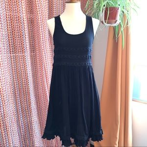 American Eagle aerie black tank coverup dress xs